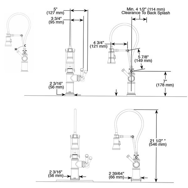 Brizo Artesso Single Handle Articulating Kitchen Faucet
