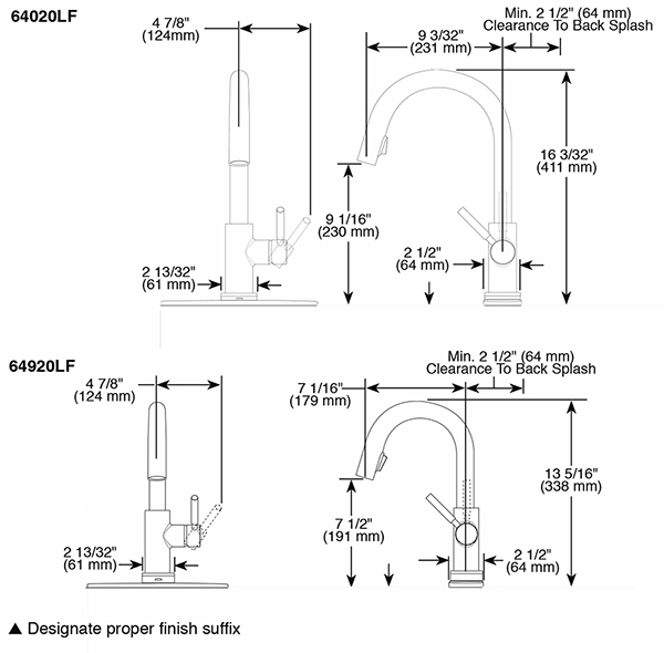 Single Handle Single Hole Pull-Down Kitchen Faucet with SmartTouch ...