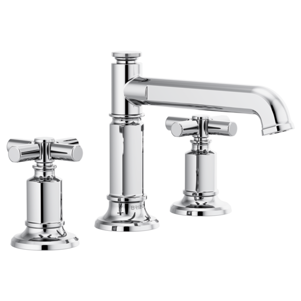 Invari Widespread Lavatory Faucet With Column Spout Less Handles