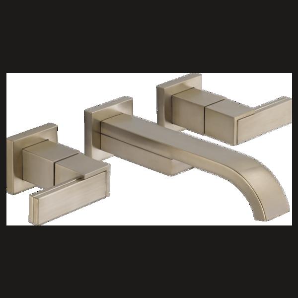 Wall-Mount Vessel Lavatory Faucet - Less Handles : 65880LF-BNLHP ...