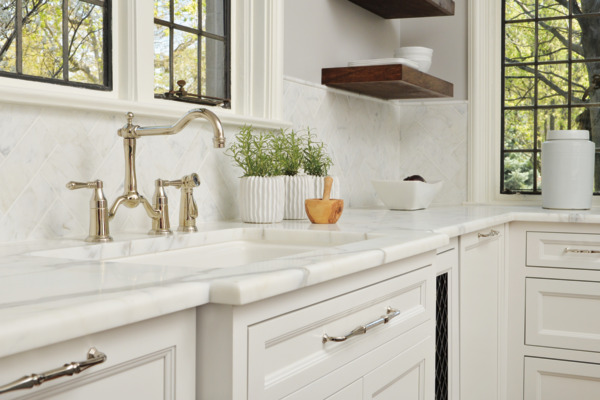 Two Handle Bridge Kitchen Faucet with Spray : 62536LF-PN : Tresa ...