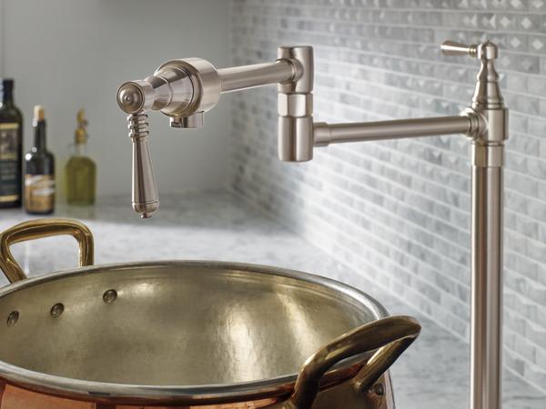 Deck Mount Pot Filler Faucet 62710lf Ss Traditional