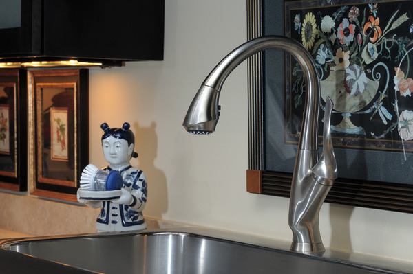 Single Handle Pull-Down Kitchen Faucet : 63052LF-SS : Belo ...