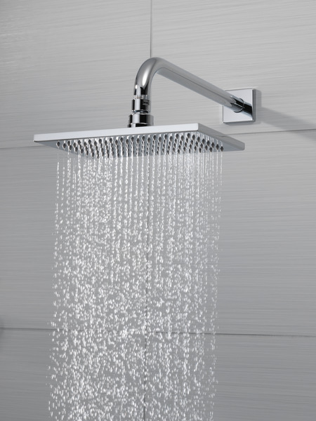 RECTANGULAR RAINCAN SHOWERHEAD 25 GPM 81380 PC Siderna