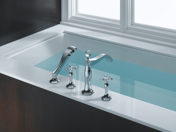 roman tub. More Images  Four Hole Roman Tub Trim with Hand Shower Less Handles T67490
