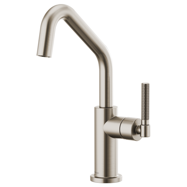 Bar Faucet with Angled Spout and Knurled Handle : 61063LF-SS : Litze ...