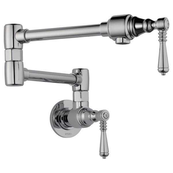 Wall Mount Pot Filler Faucet : 62810LF-PC : Traditional : Kitchen ...