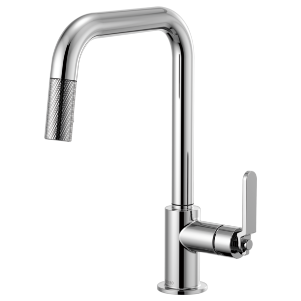 brizo faucets kitchen pull faucet with square spout and industrial handle 10805
