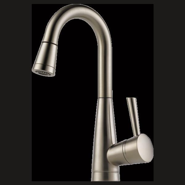 Single Handle Pull-Down Prep Faucet : 63970LF-SS : Venuto