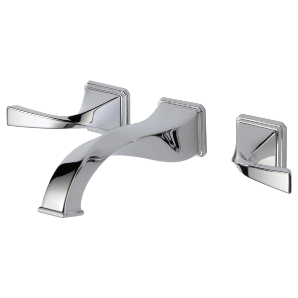 Two Handle Wall-Mount Lavatory Faucet : 65830LF-PC : Virage® : Bath ...