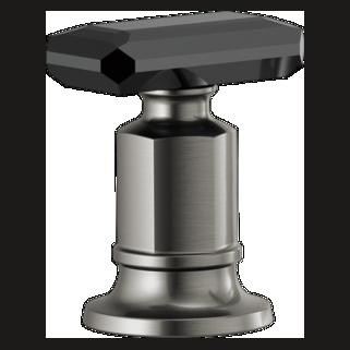 Roman Tub  Handle Kit - Black Crystal Knob