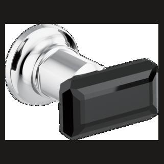 Wallmount Tub Filler Handle Kit - Black Crystal Knob